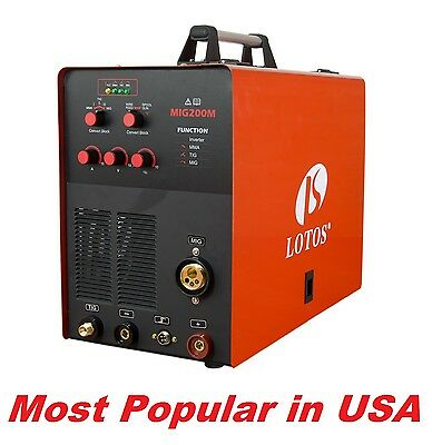 Lotos MIG200MSG 200a Mig Tig Stick with spoolgun Invertor 4in1 welder Aluminum