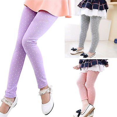 Lovely Toddler Kids Baby Girl's Tight Pants Leggings Trousers Candy Color 2-7Y