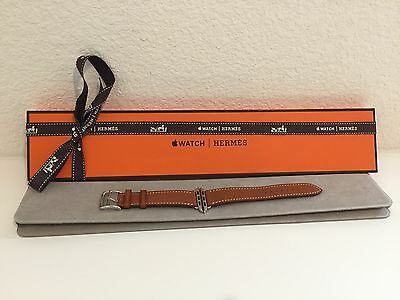 Nib Hermes Apple Watch Fauve Barenia Leather Band Strap Single Tour 38Mm Brown