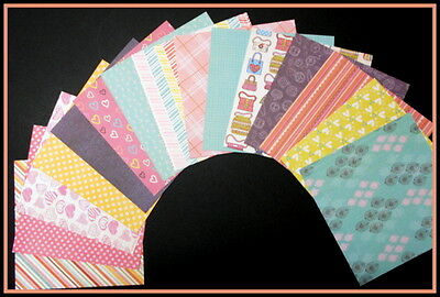 "Assorted PATTERNED Scrapbooking/Cardmaking Papers x 15  *15cm x 15cm - (6"" x 6"")"