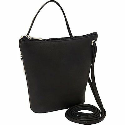 David King & Co. Top Zip Mini Bag 518, Black, One Size