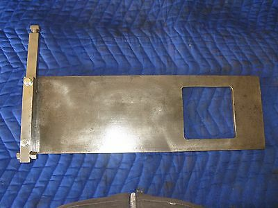 Hollymatic Super 54 patty mold plate 4 S 3/8 Square