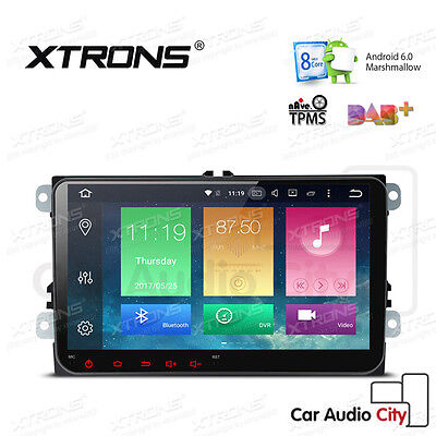 "XTRONS 2 DIN 9"" 8-Core Android 6.0 Car Radio Stereo GPS 4G VW Golf 5 Caddy Jetta"