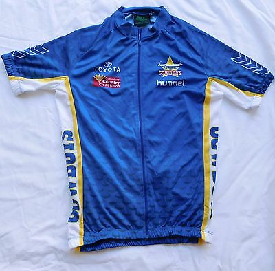 CYCLING ZIPPED TOP Cowboys NRL logos  size large  brand new