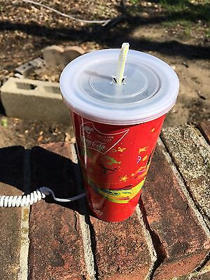Vintage Chinese Coca Cola Coke Phone Shaped Like Cup With Straw From China