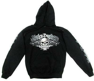 Harley Davidson South Cross Skull Black Mens Jumper Hoody Australia Hoodie