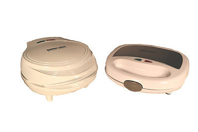 Electric Panini Sandwich Maker and Double Omelette Maker, White.