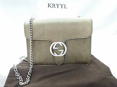 af071e376ea NWT GUCCI INTERLOCKING G Mini Leather Chain Crossbody Shoulder Bag ...