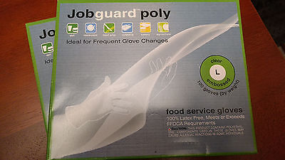(2) Food Service Poly Gloves - 100 count. box - FFDCA Approved - Size Large