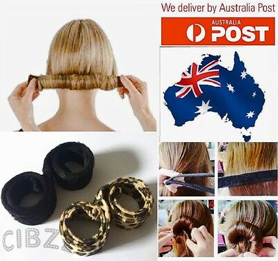 Hair Bun Styling Tool Strap Magic Hairagami Former Donut Maker French Updo