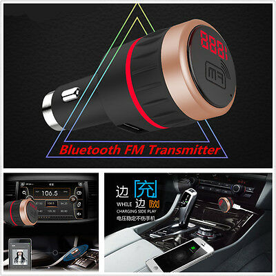 Wireless Bluetooth Car FM Transmitter MP3 Radio Player Kit With USB Charger&AUX