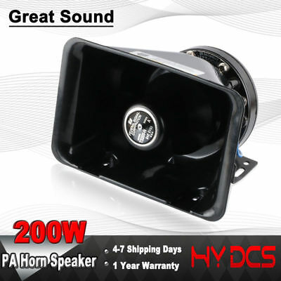 200W Loud Speaker Alarm PA Horn Siren System Kit Police Car Fire Truck 12V