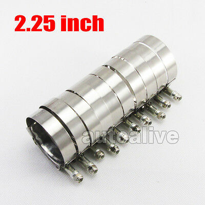 10 x 2.25'' inch 57mm T-Bolt Clamp Turbo Piping Silicone Hose Stainless Steel