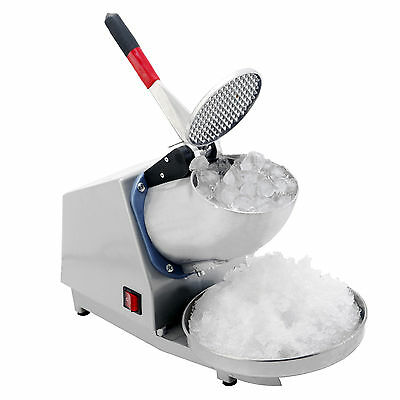 Commercial Snow Cone Machine Ice Shaving Crushing Maker Free Vacuum Bowl