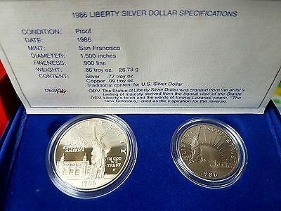 1986 United States Proof Silver Coin Set In Org.box&coa