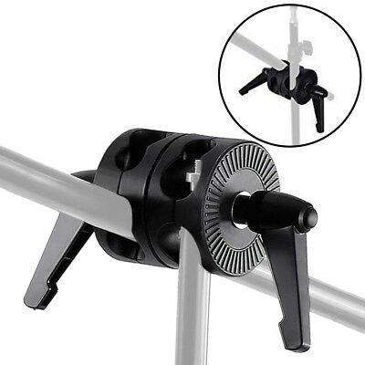 Double Dual Grip Swivel Head Bracket fr Studio Boom Arm Reflector Holder Stand