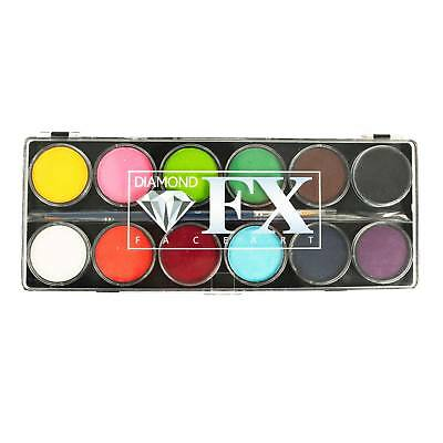 Diamond FX 12 Colour Face Paint Palette - Essential!