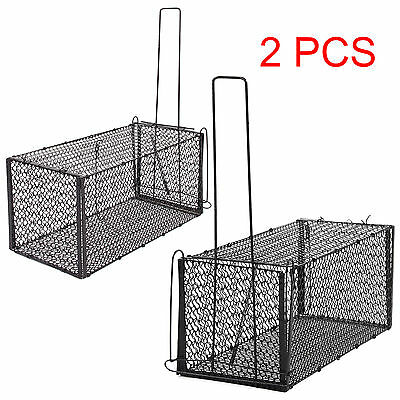 Large Metal Cage Trap Rat Rodent Rabbit Animal Rat Mouse Catcher Indoor Outdoor