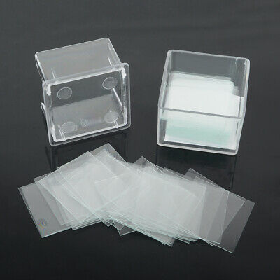 100pcs Lab Blank Square Microscope Cover Glass Coverslip Slides Tool 22x22mm