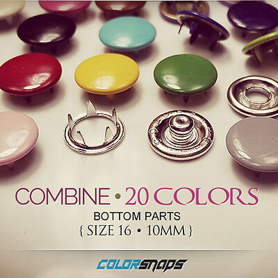 LARGE | Color Metal Cap Snap Press Button Fastener Craft Western Shirt Clothing