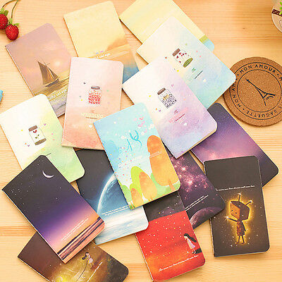 4Pcs New Colorful Cute Starry Sky&Sea Notebook Journal Diary Memo Office School