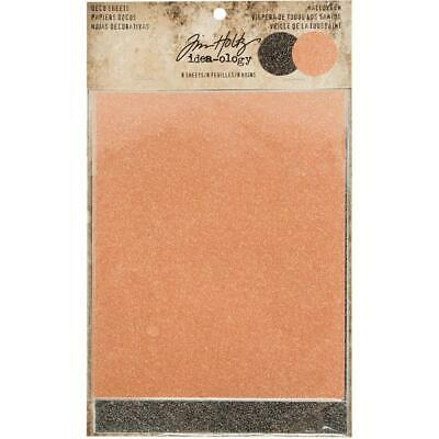Tim Holtz Idea-Ology Surfaces - Adhesive Backed Halloween Glitter - 8 Sheets