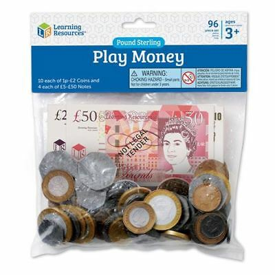 Learning Resources - Children's Play Money Set - UK Coins and Notes for Kids