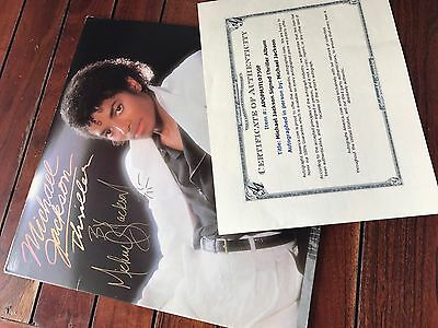 Michael Jackson Signed Thriller Album Record Coa