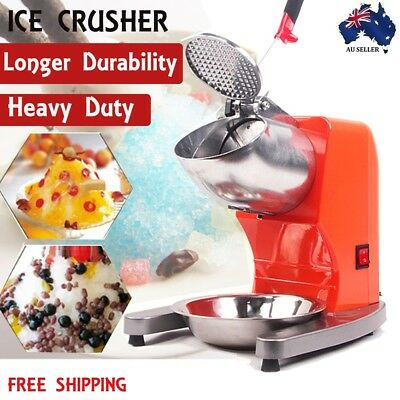 300W Ice Shaved Maker 65kg/h Double Blades Electric Ice Crusher Smoothie Machine