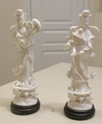 Large Vintage Chinese Asian Fine White Porcelain Figurines