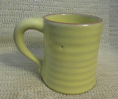 "Frankoma Pottery....  3.75""  Colorworks Yellow Mountain Air Ring Coffee Cup"