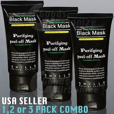SHILLS Deep Facial Cleansing Purifying Black Peel Off Mask* Blackhead Remover *