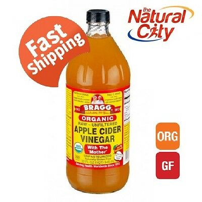 Bragg Apple Cider Vinegar 946ml x 1 with Mother- FREE SHIPPING