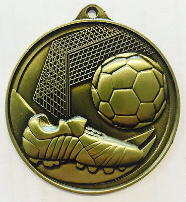 Soccer Medals Football EPL Medal Trophy Award 50mm FREE Engraving & Ribbon M2