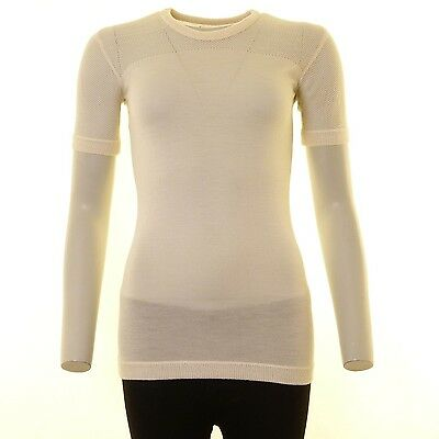 Burberry Pullover Gr. S Creme Mit Lochstrick Muster (AHB)