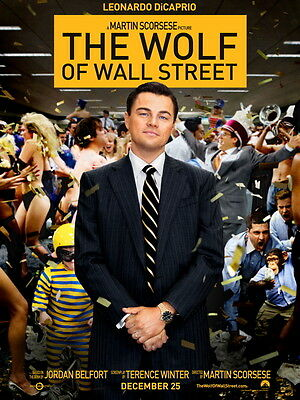 The Wolf of Wall Street Leonardo DiCaprio HUGE GIANT PRINT POSTER