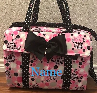 Minnie Mouse custom  Handmade Diaper Bag/ Changing Pad Free Personalize