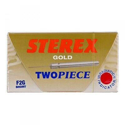 Sterex Two Piece Gold Needles - Short F2G - Box of 50