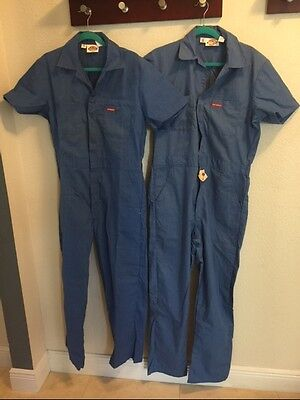 Lot Of 2 Mens Dickies Coveralls Short Sleeve Light Blue Size 40 Med /40 Long