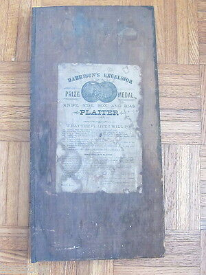 Antique Sewing Hand Craft Plaiter Board - Harrison's Excelsior Pat 1876