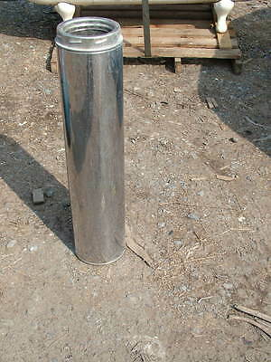 5/7 inch twin wall stainless steel flue section 29 inches long each length