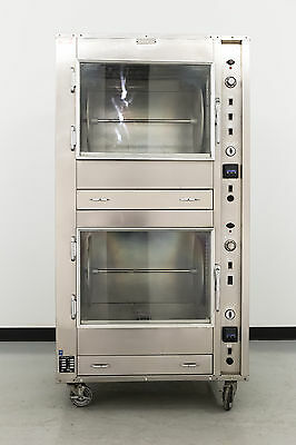 Used Custom Deli's DDR-42 Double Stack Electric Rotisserie Oven