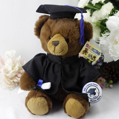 Graduation Plush Teddy Bear with Badge -Johnny - Made to Order