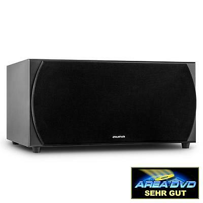 "AUNA 2 x 8"" WOOFERS HI-FI ACTIVE SUBWOOFER HOME CINEMA SOUND SYSTEM 250 W RMS"