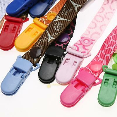 Colored Plastic Suspender Soother Pacifier Holder Dummy Clips For Baby Newborn