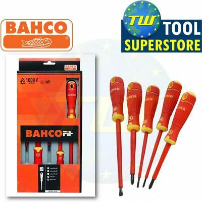 BAHCO FIT B220.015 5pc VDE 1000V Insulated Electrical Screwdriver Set PZ & Slot