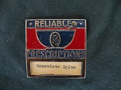 Vinage RX - Reliable Prescriptions Employee Badge ~ Greenbuck Chicago~pharmacy