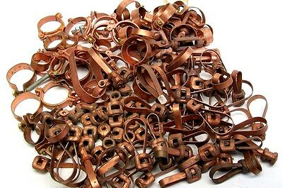 "Large Lot! 137 Pieces! Nos Misc Pipe Hangers & Parts 1/2"" - 2"" Free Ship Kb"