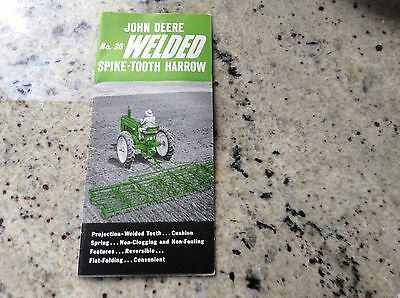 1953 Vintage JOHN DEERE Tractor Brochure Welded Spike-Tooth Harrow