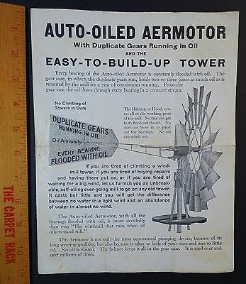RARE Advertising Brochure Catalog - Aermotor Windmill Towers 1910 American Farm